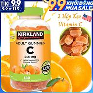 Kẹo C Kirkland Adult Gummies Vitamin C 250mg Nhập Khẩu Mỹ, Giúp Tăng Sức Đề Kháng, Phòng Cảm Cúm, Sản Xuất Collagen Làm Sáng Đẹp Da, Nhanh Lành Vết Thương, Chống Oxy Hóa, Ngăn Ngừa Ung Thư, Hỗ Trợ Hấp Thụ Sắt - 2 Hộp x 180 Viên thumbnail