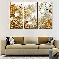 Tranh treo tường, tranh đồng hồ NT045 bộ 3 tấm ghép thumbnail