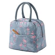 Túi giữ nhiệt đựng hộp cơm chống nước có quai xách tiện dụng - Giao màu ngẫu nhiên thumbnail