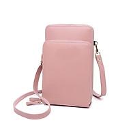 Túi ví kết hợp 2in1 Túi đeo chéo mini nữ hình chữ nhật 2 ngăn (đựng điện thoại, thẻ, tiền, giấy tờ..) Khóa kéo kim loại sang trọng TV002 thumbnail