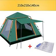 Lều cắm trại , du lịch tự bung cho 3-4 người cao cấp tặng kèm thảm ngoài trời chống thấm chống ẩm (Giao màu ngầu nhiên) thumbnail