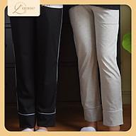 Quần bầu sau sinh Line Pant dáng suông co giãn tốt, đáp bụng cotton mềm mỏng, thích hợp mặc đi làm, đi chơi, dạo phố - Thiết kế bởi LAMME thumbnail