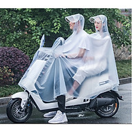 Áo mưa cặp người lớn trong suốt có tai gương tiện dụng thumbnail