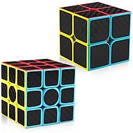 Đồ chơi ảo thuật COMBO 2 RUBIK 2X2, 3X3 CARBON CAO CẤP thumbnail