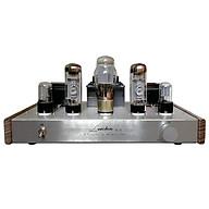 Bộ khuếch đại âm thanh Ampli Oldchen EL34-b BL-02 màu bạc 2 bên sườn gỗ 5 bóng thumbnail