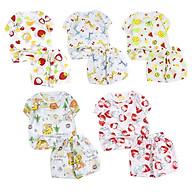Combo 3 bộ sơ sinh lấy màu ngẫu nhiên dệt hoa văn mỏng mềm nhẹ cho bé 0-1 tuổi từ 3 đến 8 kg 06197-06201 thumbnail