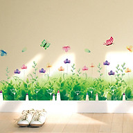 Decal dán tường trang trí phòng khách, quán cafe- Chân rào phale xanh- DXL7183 thumbnail