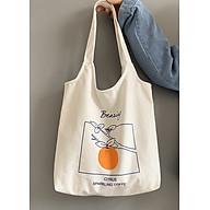 Túi tote Túi vải đeo vai họa tiết quả cam nổi bật LA714 thumbnail
