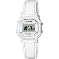 Casio Women s Classic Quartz Watch with Leather-Synthetic Strap, White, 14.8 (Model LA-11WL-7ACF) thumbnail