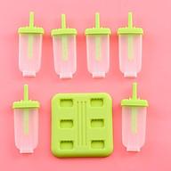 Bộ khuôn làm kem 6 món tiện dụng(màu giao ngẫu nhiên) thumbnail