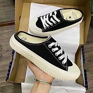 (Form rộng) Giày Sục Vải Thể Thao Đế Độn 4cm thumbnail