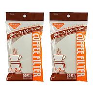 Combo Set 55 túi giấy lọc trà, cà phê nội địa Nhật Bản thumbnail