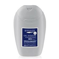Sữa tắm 2 in 1 cho nam BYPHASSE MEN SHOWER GEL- SHAMPOO 500ML màu xám xanh thumbnail