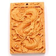 Mặt gỗ hoàng đàn khắc hình tượng Rồng MG54 thumbnail