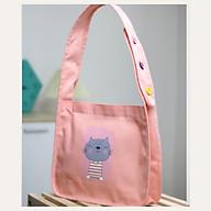 Túi tote đeo chéo vải canvas phom bầu dây quai liền phối 3 hạt nút thời trang COVI nhiều màu sắc T21 thumbnail