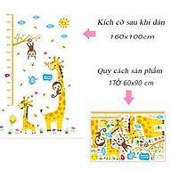 Decal dán tường trang trí phòng cho bé , lớp mầm non- Thước đo mẹ con hươu ngộ nghĩnh- mã sp DXL8337 thumbnail