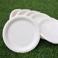 Dĩa giấy trắng 19cm - Combo 50 cái thumbnail