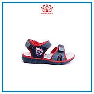 Dép Quai Hậu Cho Bé Trai Đi Học Thời Trang Cao Cấp Crown Space UK Active Sandal CRUK527 Chất Liệu Da Nhẹ Êm Thoáng Khí Thấm Hút Mồ Hôi Cho Trẻ Size từ 26-35 2-14 Tuổi thumbnail