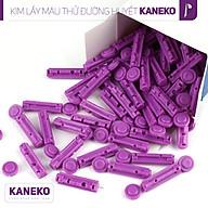 Kim lấy máu cho máy đo đường huyết Hộp 100 chiếc,Kim chích thử máu Kaneko,Kim chích lấy máu an toàn thumbnail