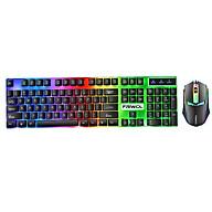 Bộ bàn phím và chuột chơi Game FRIWOL W10 Led 7 màu Phím giả cơ nghe âm thanh rất thanh với đường nét thiết kế góc cạnh tạo nên sự khác biệt với nhiều sản phẩm khác. thumbnail