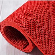 Thảm nhựa lưới chống trơn màu đỏ cho nhà cửa, nhà tắm, văn phòng, hồ bơi thumbnail
