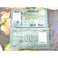 Tiền Lebanon 1000 Livres xưa sưu tầm, tiền quốc gia Trung Đông, mới 100% UNC, tặng túi nilon bảo quản thumbnail