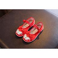 Giày đỏ bé gái họa tiết cánh bướm thumbnail