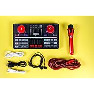 Combo livestream chuyên nghiệp XOX BP3 bao gồm đầy đủ sound card USB, micro và tai nghe tích hợp Bluetooth, reverb, auto-tune và voive-changing, nút chức năng hiệu ứng kép - Hàng chính hãng thumbnail