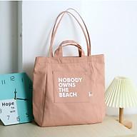 Túi tote vải canvas phom đứng in chữ NOBODY thời trang COVI nhiều màu sắc T18 thumbnail