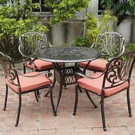 Bộ bàn ghế ngoài trời nhôm đúc, Mã FY-064ZX, Bộ bàn tròn 4 ghế thumbnail