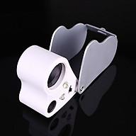 Kính lúp 30-60X cầm tay có đèn V2 (Tặng kèm miếng thép đa năng 11in1) thumbnail