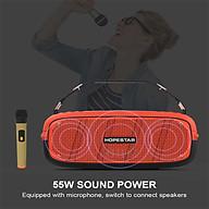 Loa bluetooth di động Hopestar A20 - Loa siêu bass, màng rung cộng hưởng - Tặng kèm 1 micro không dây - Công suất 55W, Bluetooth 4.2 - Tính năng TWS (True Wireless Stereo) - Nghe nhạc âm thanh boombox cực mạnh - Hàng nhập khẩu thumbnail