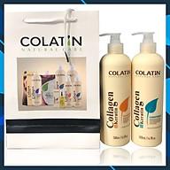 Bộ dầu gội xả dưỡng chất tơ tằm Collagen COLATIN Shampoo & Conditioner 500ml thumbnail