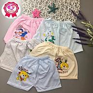 Set 5 quần đùi cotton đẹp cho bé 3-12kg thumbnail
