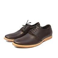 Giày Tây Nam buộc dây da bò cao cấp màu nâu đậm dáng trẻ khỏe đế kếp siêu bền 3367 - Leather Upper Sr7 thumbnail