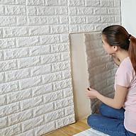 COMBO 5 miếng xốp dán tường cách âm ,cách nhiệt 3D giả gạch hàn quốc-khổ 70x77cm thumbnail