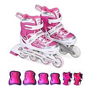 Combo Giày trượt patin K400 Hồng+ bảo hộ tay chân thumbnail