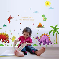 Decal dán tường công viên khủng long size lớn 02 SG0213 thumbnail