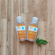 Combo 2 chai Gel rửa tay khô Glee Care 60ml (Hương cam) Công nghệ Nano Bạc diệt khuẩn thumbnail