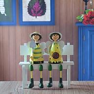 Tượng trang trí Búp bê bằng gỗ Sunflower - 1 tượng - phát ngẫu nhiên thumbnail