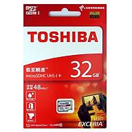Thẻ nhớ MicroSD TOSHIBA 64Gb 32Gb 16G Class10 chuyên dùng cho camera ip, điện thoại, máy tính (màu đỏ) - hàng nhập khẩu thumbnail
