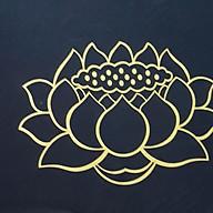Toạ cụ, nệm ngồi thiền lễ Phật tụng kinh ruột mút loại 1 có in hoa sen thumbnail