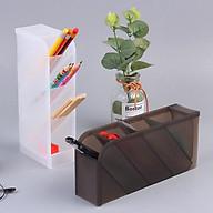 Ống bút đa năng nhiều ngăn, lọ 4 tầng đựng bút mỹ phẩm cọ trang điểm E311 thumbnail