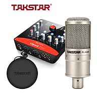 Combo thu âm, livestream souncard icon upod pro, mic PC-K200, tai nghe TS 2260 kèm đầy đủ phụ kiện - hàng chính hãng thumbnail