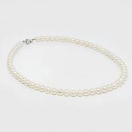 Chuỗi cổ ngọc trai Freshwater màu trắng 6.5-7.5mm Tròn, chất liệu bạc quý kim Hoàng Gia Pearl C1134P0F41W034060S001 thumbnail