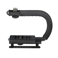 U-Grip Camcorder Stabilizer Handle DSLR Handheld Gimbal C-Shape Video Stabilizer with Flash Hot Shoe Mount Supports Up thumbnail