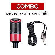 Mic thu âm Takstar PC-K320 [HÀNG CHÍNH HÃNG] - Micro hát karaoke - Mic livestream PC K320 - Mic PC K320 Takstar thumbnail