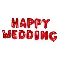 Bong bóng chữ Happy Wedding thumbnail
