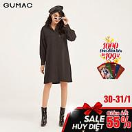 Đầm suông nữ GUMAC DB1149 thiết kế sơ mi 2 túi thumbnail