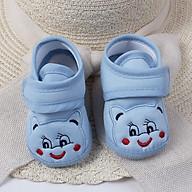 Giày tập đi cho bé có đế trống trượt, dép vải nhẹ nhàng chất mềm mại, HÀNG ĐẸP thumbnail